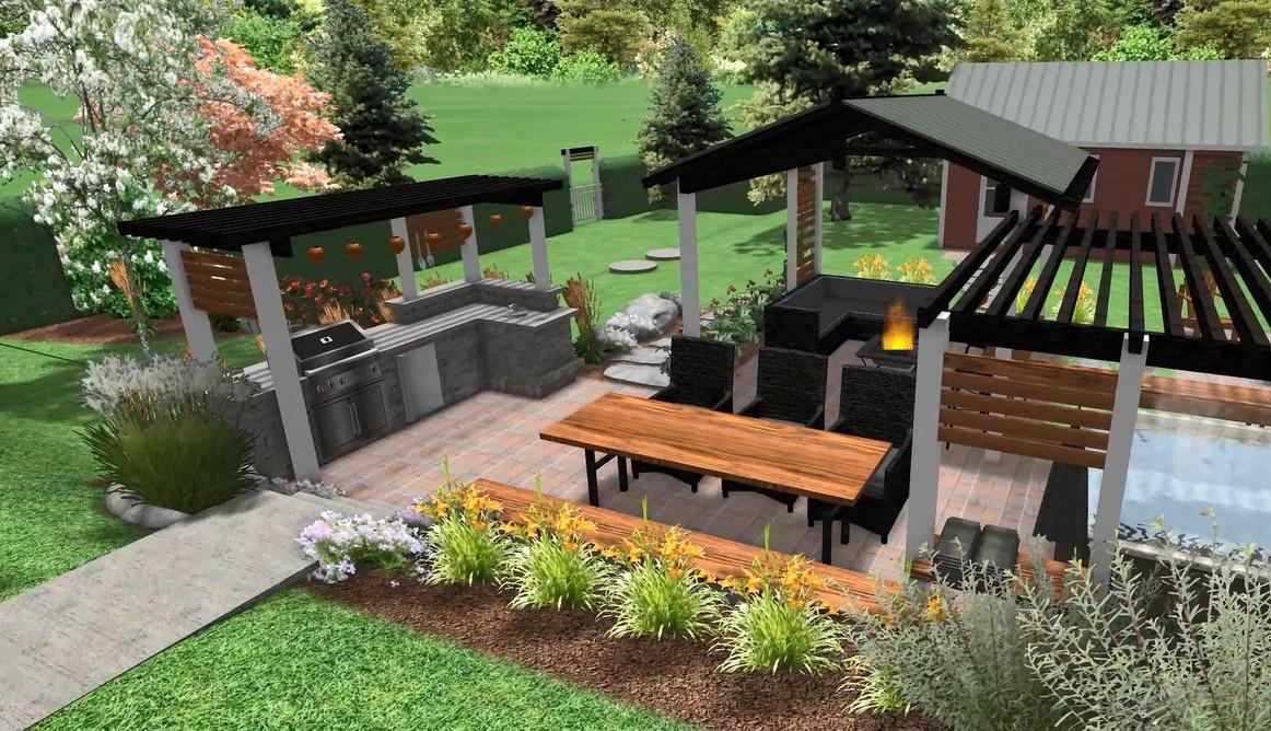 comment am nager votre cour ext rieure en v ritable royaume du bbq. Black Bedroom Furniture Sets. Home Design Ideas